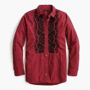 Boy shirt in embellished plaid